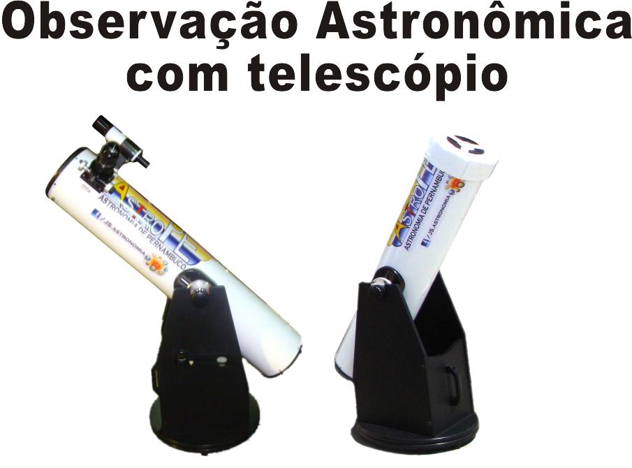 Observação Astronômica com Telescópio