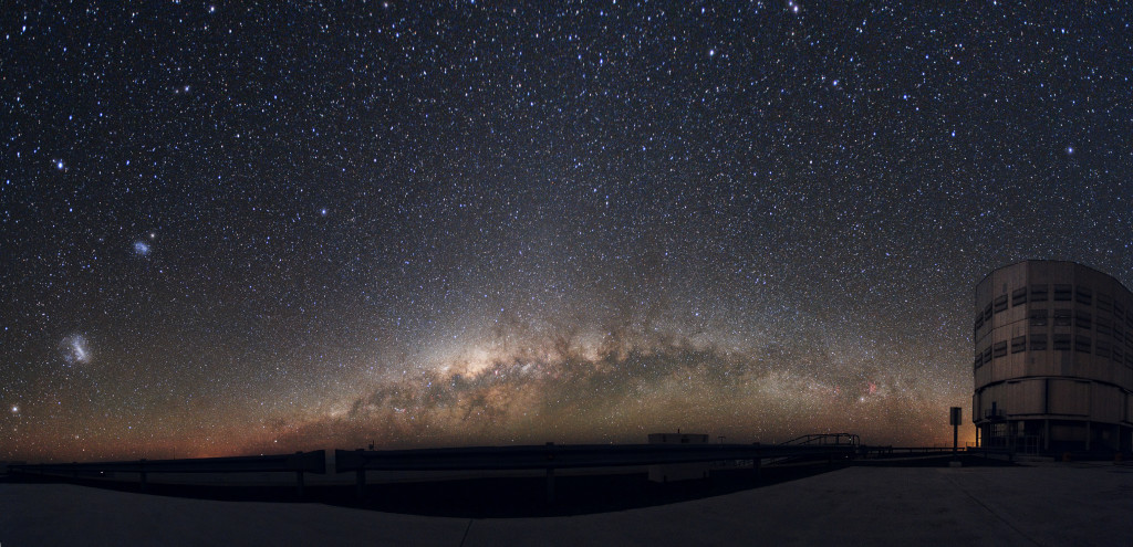 Panoramic_Large_and_Small_Magellanic_Clouds