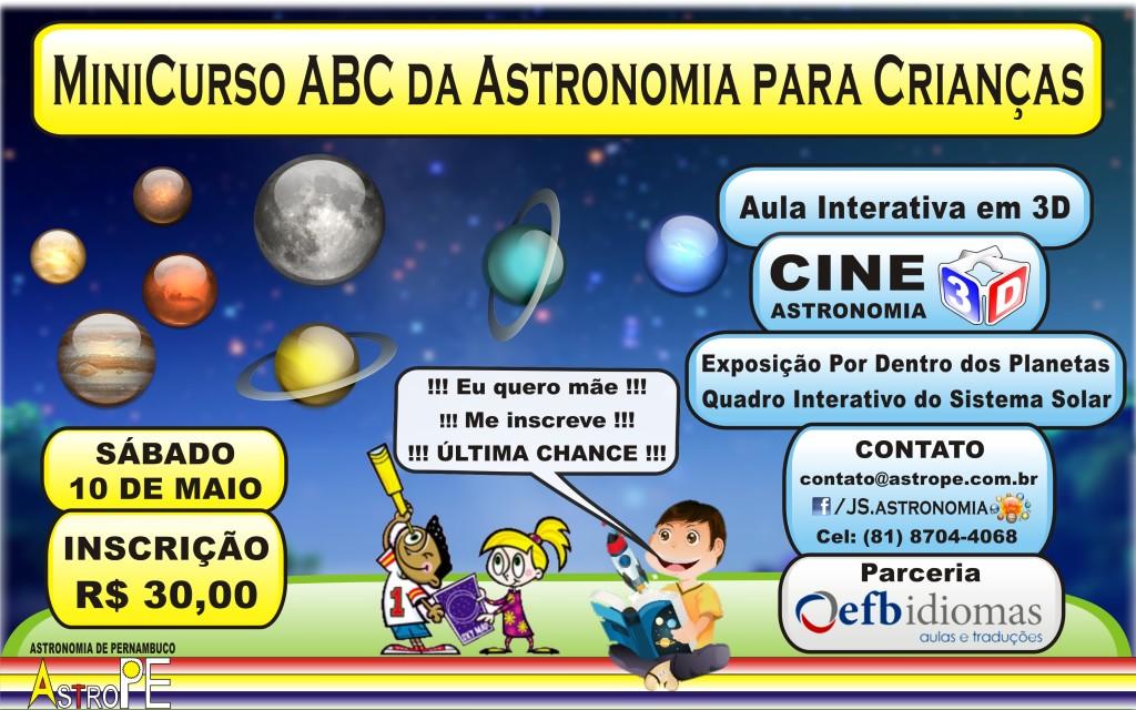 Minicurso ABC da Astronomia para Crianças