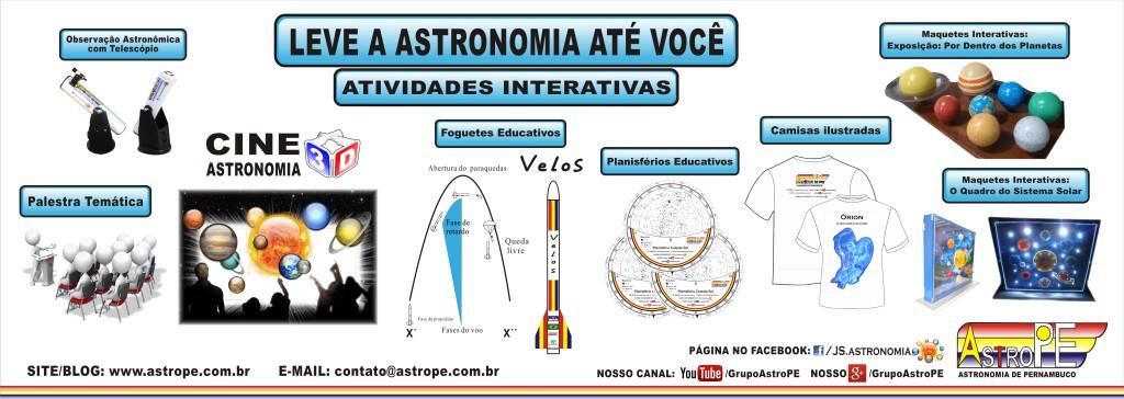 Atividades e Materiais oferecidos pelo Grupo AstroPE.