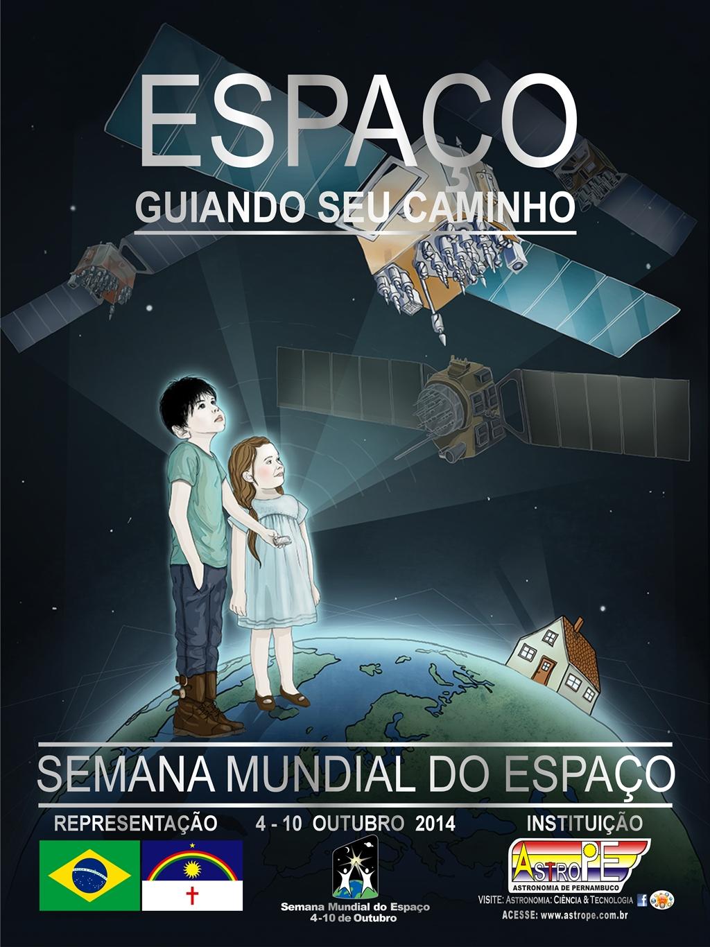 Cartaz – Semana Internacional do Espaço 2014 – AstroPE