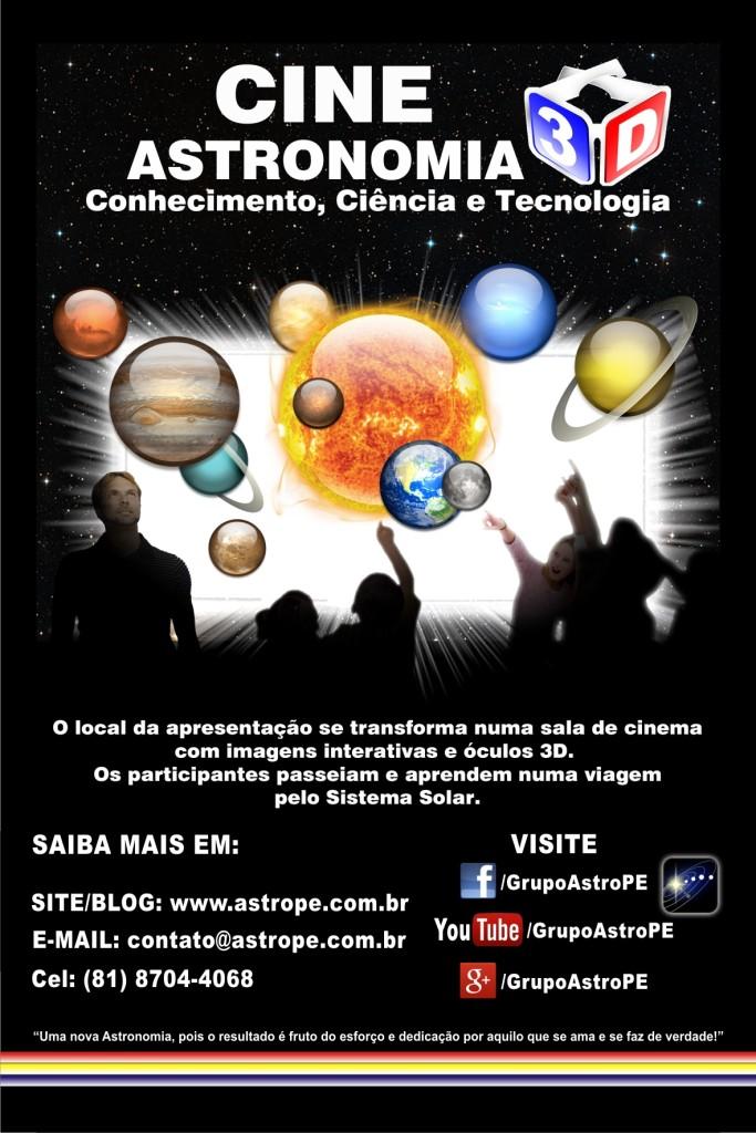 Cartaz - Cine Astronomia - 3D Versão 4 - 2015