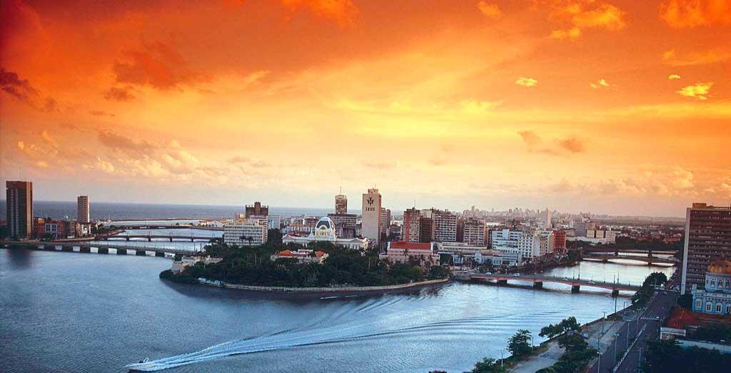 Vista aérea do Recife - Veneza Brasileira