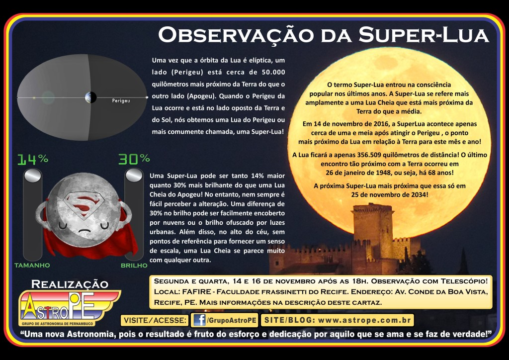 Evento - SuperLua - novembro - 2016 - AstroPE