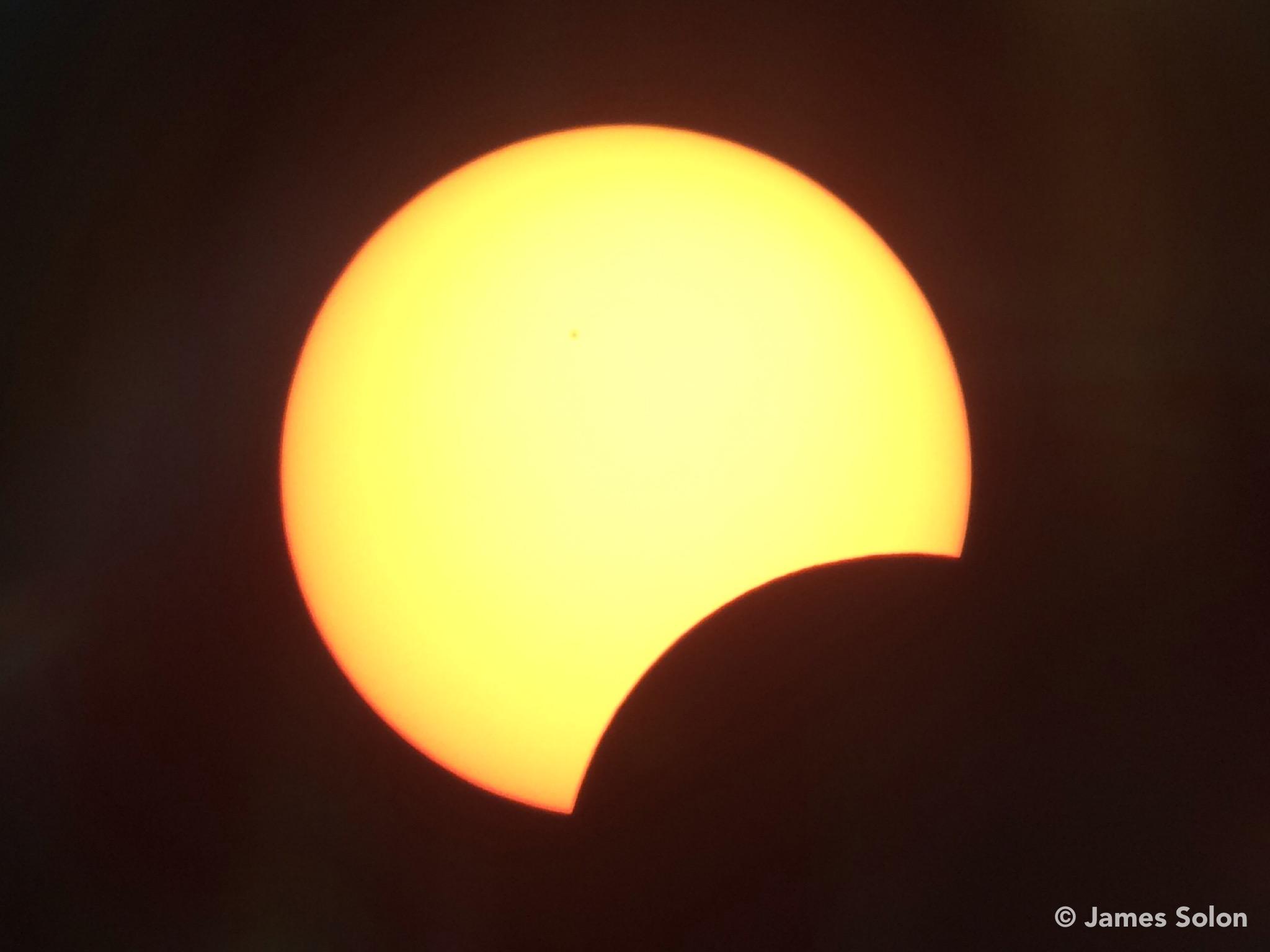 Máximo do Eclipse Solar Parcial - Recife-PE - 26 de fevereiro de 2017.