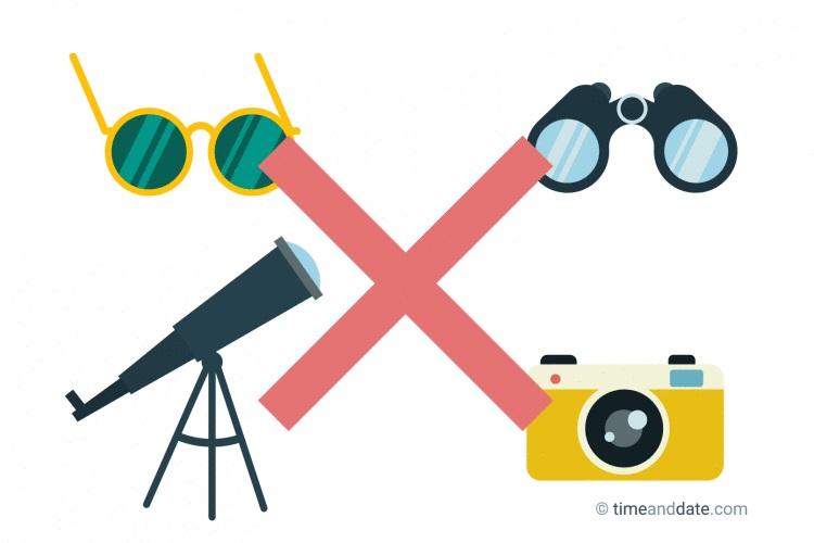 Nunca olhe diretamente para o Sol através de materiais não recomendados - risco permanente à visão.