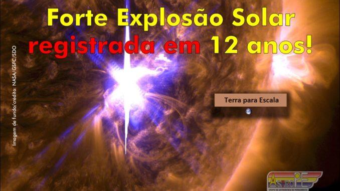 A mais forte explosão solar do ciclo 24 foi registradanesta quarta-feira, 6 de setembro de 2017, às 12:02 UTC. A erupção solar atingiu a classe X9.33.