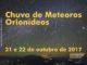 Chuva de meteoros Orionídeos–21 e 22 de outubro de 2017.