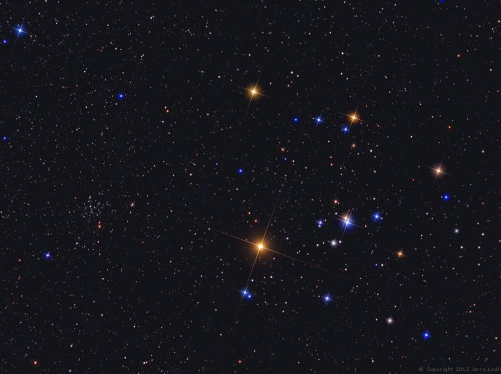 Aglomerado aberto das Híades, na constelação de Touro - por: Jerry Lodriguss.