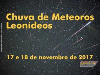 Chuva de meteoros Leonídeos– 17 e 18de novembro de 2017.