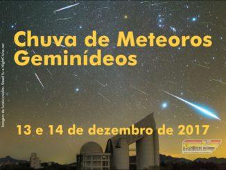 Chuva de meteoros Geminídeos– 13 e 14de dezembro de 2017.