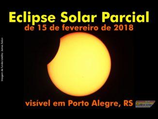 O Eclipse Solar Parcial de 15 de fevereiro de 2018 visível em Porto Alegre, RS