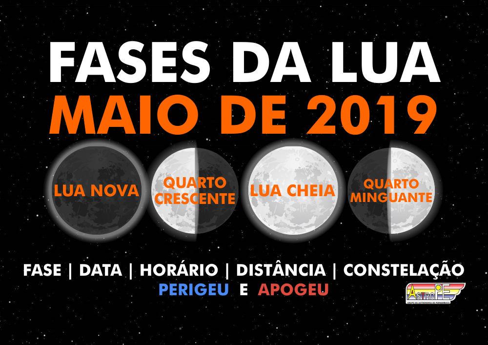 cae44c73c Fases da Lua em maio de 2019! Saiba as datas, horários e mais!